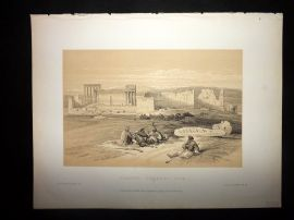 David Roberts Holy Land 1887 Print. Baalbec, General View. Lebanon